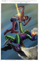 Spider-Man vs Green Goblin by fixart