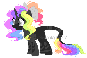 ~Adoptables~. Rainbow Pastel Pony :CLOSED: by XantaL-XGB