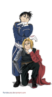 Flame and Fullmetal - Roy made Ed shorter by FlorideCuts