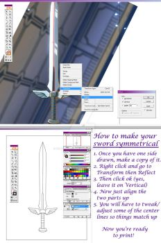 How to Make a Sword Pattern Symmetrical by VelvetRoseCreations