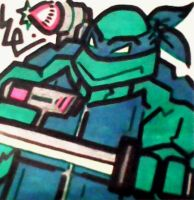 Mecha Turtle NES Post-It by dark-es-will