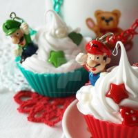 Mario and Luigi Cupcakes by AndyGlamasaurus