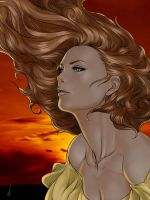 The Woman In YellowRed by Darthval