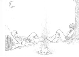 Tim and Tay's Excellent Adventure - Campfire by TerryTatcher
