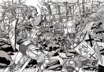 Commission Medieval Girls Joust by leandro-sf