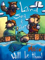 Mario Mario, Land Sea and Air by CraigArndt