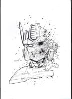 sketch zombie optimus prime by cliff-rathburn