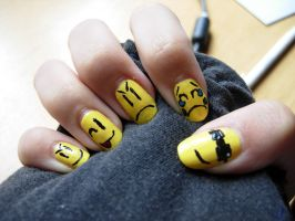 Smiley nails 2 by SarahJacky