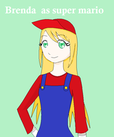 Brenda as super mario XD by Kida-neechan