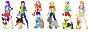 my little pony pokemon trainers the mane 6 by augie-pawgie