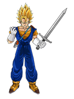 Future Vegeto SSJ1 by DBZArtist94