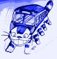 Cat bus coming through by Suphiria