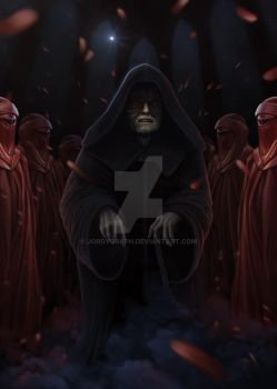 Palpatine and the imperors royal guard by jordygraph