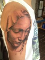 Mary Madonna Pieta by Green-Jet