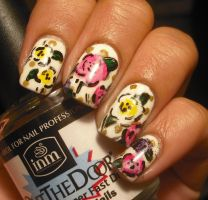 Colorful Flowers Nail Art by aleidapinon