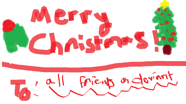 Merry Christmas Deviant  Friends by mapleheartchained