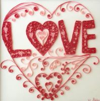 Quilling: Love by staceysmile