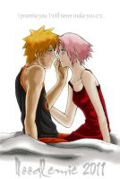 NaruSaku:bed - my version by noodlemie