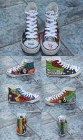 new Green Day chucks by luzifersdaughter