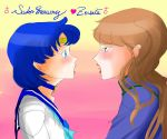 SailorMercury with Zoisite by lovehalibel
