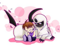 Pokemon: relaxing with absol by ButterLux