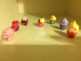 Steven Universe Cupcake Charms by Animalshine