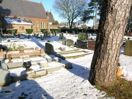 snow, churchyard  oct 29th 18 by dark-dragon-stock