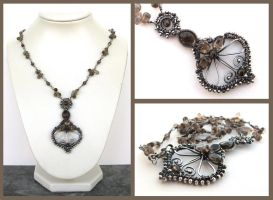 smokey silver necklace by annie-jewelry