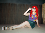 Hipster Ariel: Life seems poetic...! by SweetCandyCupkake