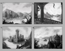 Environment Sketches 01 by DanikYaroslavTomyn