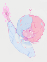 Cotton Candy Garnet by Smitreen