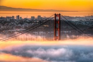 San Francisco, Golden Gate in fire chamber by alierturk