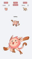 Pokemon Fusion Sprite - CLEFKEY by Darksilvania