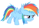 Rainbow Dash Vector - The Filly Is Ready! by Anxet