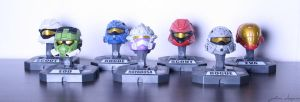 Halo Helmet Collection. by Johawna
