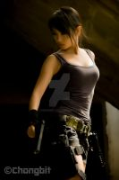 tomb raider Jane Frances Chiong with gun by chongbit