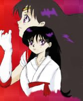 Rei Hino aka Sailor Mars coloured by Fighter4luv