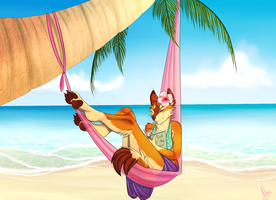 Summer Lounging by FeralFlapjack