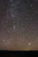 Milky Way and Some Other Galaxy over the Mountains by Halcyon1990