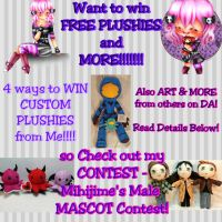 LAST DAY!!! Mihijime's OC MALE Mascot CONTEST by mihijime