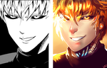 Genos Manga panel redraw by Luxial