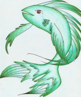 Exocoetidae, Flying Fish by ChibiKyuu