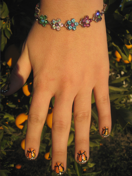 Monarch Butterfly Nails by Totally-Tomboy