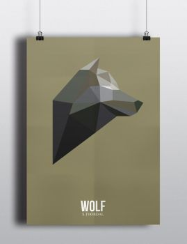 Poster Wolf by SimonTwoPointO