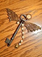 Steampunk Butterfly Key by wingedlight