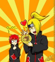 Deidara Loves Pie :Gift Art: by Wasudo