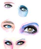 Watercolor Eyes 01 by The-Last-Silver-Moon
