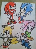 Classic Sonic And Friends by SonicAndKnucklesFTW