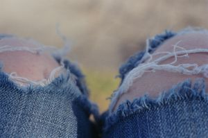 weathered jeans by panda8bamboo