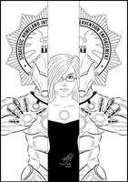 Pepper Potts from Iron Man INK by BouncieD